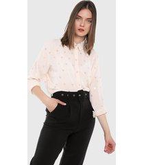 camisa rosa-plateado paris district