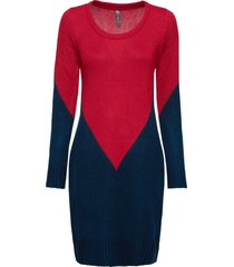 abito in maglia bicolore (rosso) - rainbow
