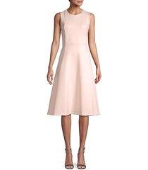 sleeveless fit-&-flare dress