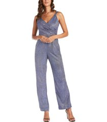 nightway metallic wrap jumpsuit