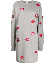 escada sport sequin lip jumper dress - grey