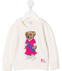 ralph lauren jersey sweater with teddy bear