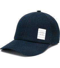 thom browne twill 6-panel baseball cap - blue