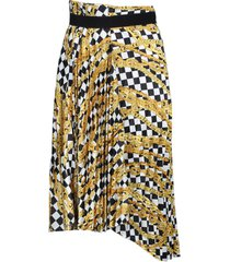 checkered chain print skirt