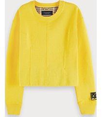 scotch & soda cotton-blend long sleeve darted sweatshirt