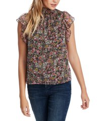 1.state forest gardens printed ruffled top