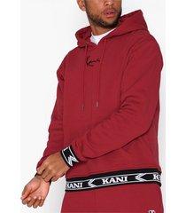 karl kani kk signature hoodie tröjor burgundy/svart