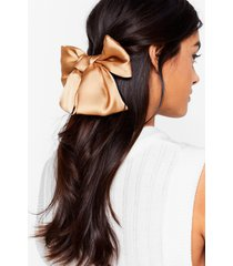 womens gotta long way to bow hair clip - camel