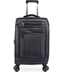 "brookstone harbor 21"" softside carry-on luggage with charging port"