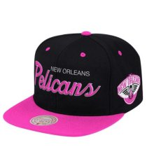 mitchell & ness new orleans pelicans sweetheart script snapback cap
