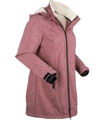 giaccone funzionale con pellicciotto di pile (rosso) - bpc bonprix collection