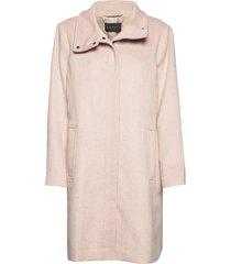 coats woven wollen jas lange jas roze esprit collection