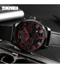 reloj de cuarzo de los hombres de moda al aire libre-rojo