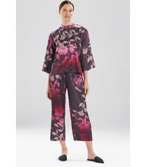 midnight bloom pajamas / sleepwear / loungewear set, women's, purple, size m, n natori