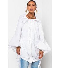 akira meet me halfway long sleeve cargo pocket mini dress