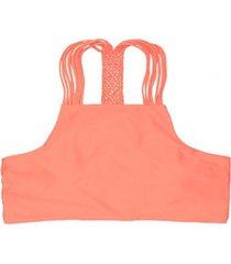 bikini peto con trenza trasera naranja samia