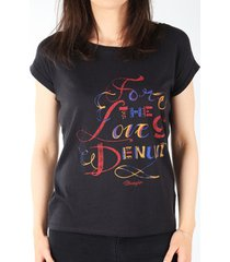 t-shirt korte mouw wrangler t-shirt s/s text tee black w7307dsbu