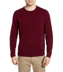 men's big & tall nordstrom cashmere crewneck sweater, size 2xlt - burgundy