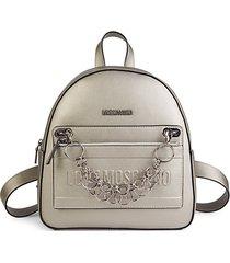 chain logo backpack