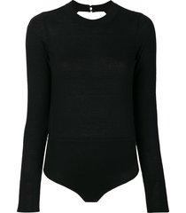le kasha cashmere bodysuit - black