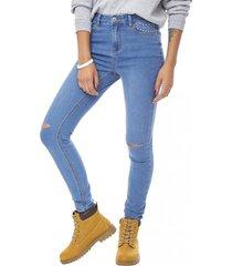 jeans skinny detalle mujer azul claro brillos corona