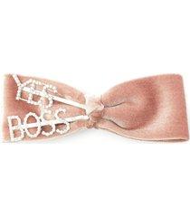 'yes boss' velvet bow hair clip