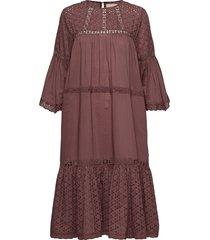 cognac dress jurk knielengte roze lollys laundry
