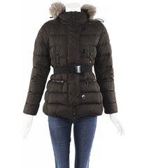 moncler genette belted puffer coat