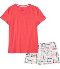pigiama estivo in cotone biologico (rosso) - bpc bonprix collection