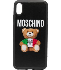 moschino teddy print iphone xs max case - black