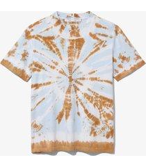 proenza schouler white label tie dye short sleeve t-shirt tobacco/sky blue border tie dye m