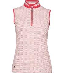 talia sl polo shirt t-shirts & tops polos rosa daily sports