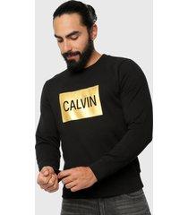 buzo negro-dorado calvin klein