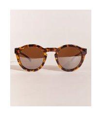 óculos de sol redondo feminino hype beachwear tartaruga