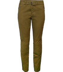 belted moto trousers