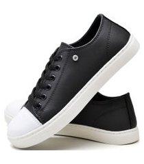 tênis sapatênis casual fashion feminino dubuy r303el preto