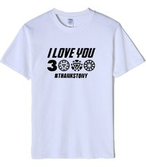 i love you 3000 camiseta unisex algodón camiseta de manga corta camiseta profesional