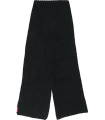 dsquared2 rib knit scarf - black