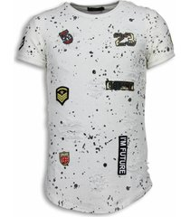 paint drops army shirt