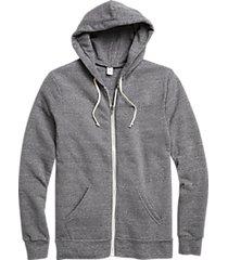 alternative apparel modern fit rocky eco-fleece hoodie gray