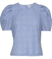 amber blouse t-shirts & tops short-sleeved blauw twist & tango
