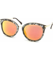 63226326b óculos de sol bijoulux gatinha marmorizado lente espelhada laranja
