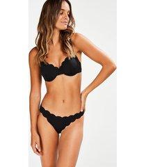 hunkemöller scallop glam rio-bikiniunderdel med låg midja svart