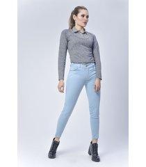 pantalón jeans dama azul di bello jeans ® classic jeans ref j801