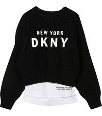 dkny black sweater teen