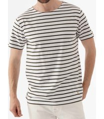 armor lux breton striped mariniere t-shirt - white & aquilla 73842