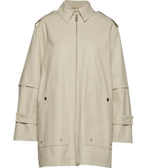 tribeca coat dunne lange jas beige filippa k