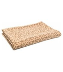ami amalia manta com estampa de leopardo - neutro