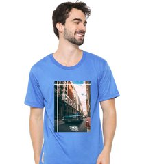 camiseta sandro clothing feeling azul - azul - masculino - dafiti