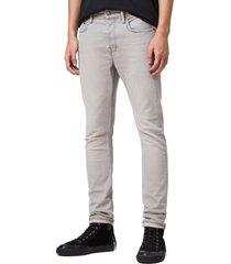 allsaints raveline cigarette skinny fit jeans, size 31 in grey at nordstrom